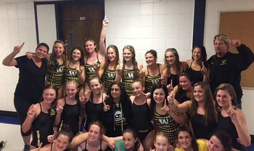 Undefeated Conference Champion 2014 Girls' Swim Team