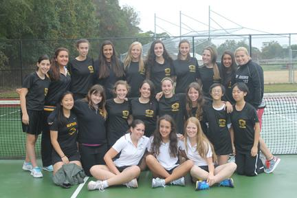 Girls' Tennis Volleys into Conference Championship