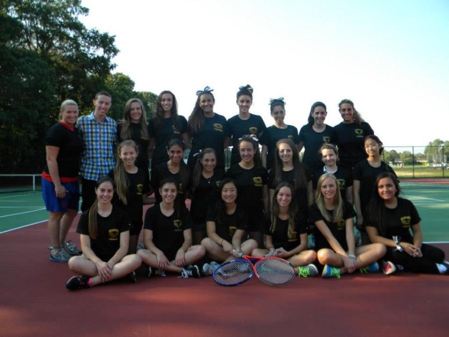 Girls%27+Tennis+Serves+an+Ace
