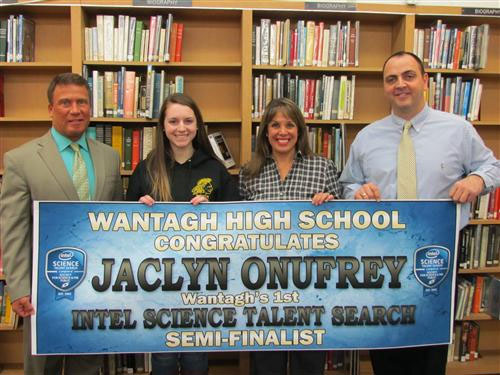 Onufrey Becomes Wantagh's 1st National Science Contest Semifinalist in 58 Years