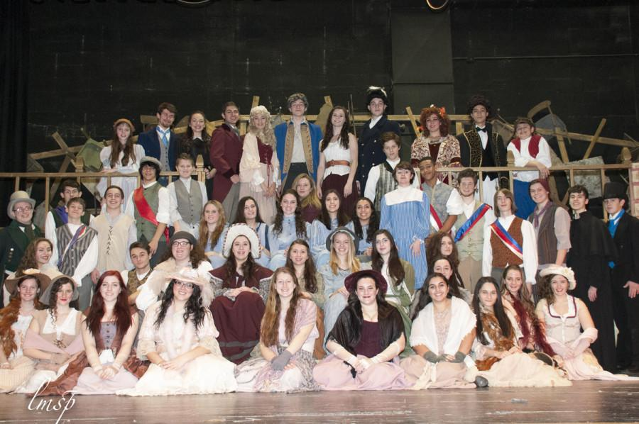 The cast of Wantagh High School's production of Les Miserables