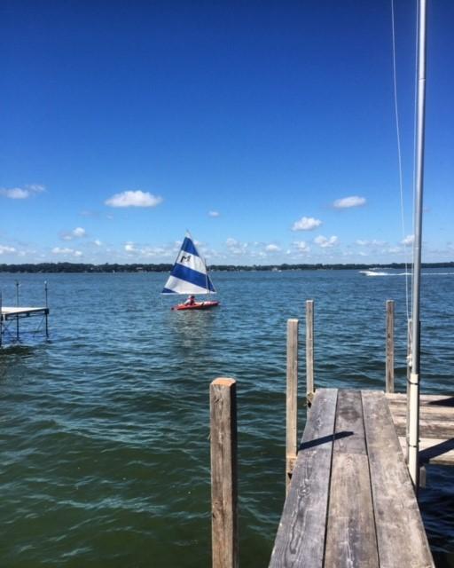 Sailing in Spirit Lake, Iowa