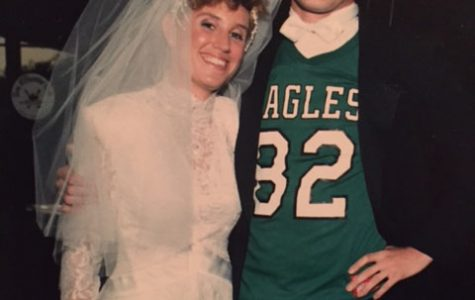 I teased my Giant's fan future father in law by making him think I would marry his only daughter, at our big schmaltzy New York wedding, in this Mike Quick jersey in the late 1980's.