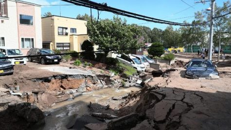 Japan Hit By Typhoon And Earthquake