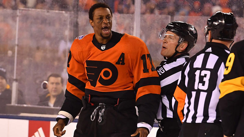 Wayne Simmons Last Game as a Flyer