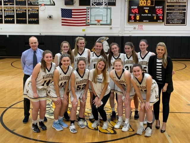 Coach+B+and+Coach+Colton+and+this+year%27s+girls%27+varsity+basketball+team